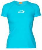 Женская гидромайка с короткими рукавами iQ Uv Shirt Watersport S/s Turquoise