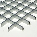 Потолок грильято Люмсвет металлик матовый 75*75*30 мм