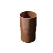 Соединитель (муфта) водосточной трубы Технониколь D-80, Коричневый