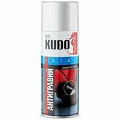 Антигравий KUDO гладкий, аэрозольный, 520мл, белый
