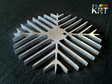"""Радиаторный алюминиевый профиль """"подсолнух"""" для матриц, диаметр 105мм"""