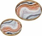 Набор подносов Lefard, цвет: разноцветный, 2 шт. K22F856