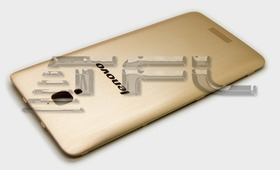 Крышка задняя для Lenovo S660 (золото)