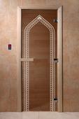 """Дверь для сауны Doorwood серия """"Арка"""" бронза"""