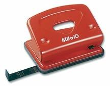 Дырокол Kw-Trio Classic Medium 942RED металлический с линейкой, цвет красный