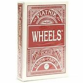 """Игральные карты Piatnik Покерные """"Wheels"""", стандартный индекс, 1391_красный красный"""