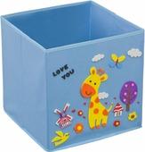 """Кофр для хранения Handy Home """"Жираф"""", с аппликацией, цвет: голубой"""