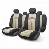 """Авточехлы Autoprofi """"TT"""", цвет: черный, светло-бежевый, 9 предметов. TT-902V BK/L.BE"""