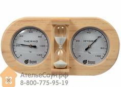 Термогигрометр Банная станция с песочными часами (27х13.8х7.5 см, арт. БШ 18028)