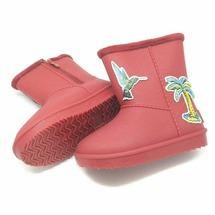 Детские утепленные резиновые сапоги Bimko-D красные 29