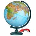 Физико-политический глобус d=32 см с подсветкой от батареек Глобусный мир 16027