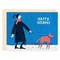 "Открытка ""Happy Holidays. Red Dog"" C6"