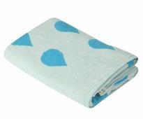 Полотенце для бани Pastel Капли, голубой