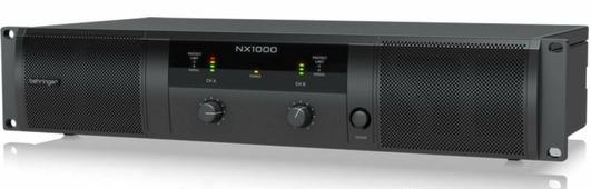 Behringer NX1000 усилитель 2-канальный. Мощность пик. 2 x 500Вт•2?/300Вт•4?/160Вт•8?, мост 1000Вт•4?/620Вт•8?, Speakon/комбо-XLR, кроссовер