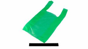 Пакет-майка 24*45-10 зелёный.0503/30gr