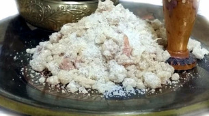 Бахур белый каменный рукодельный Aryana