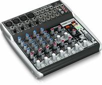 Behringer QX1202USB Компактный малошумящий микшерный пульт (12 входов, 2 шины, компрессор, 24-бит эффект-процессор, USB аудио интерфейс). Klark Teknik