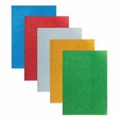 Цветная пористая резина для творчества (пенка в листах), А4, 210х297 мм, BRAUBERG, 5 л., 5 цв., самоклеящ., с
