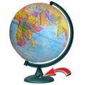 Рельефный политический глобус d=32 см с подсветкой от батареек Глобусный мир 16027