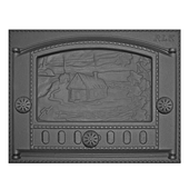 Дверка каминная ДК-2Б, «Домик в деревне» Рубцовское литье dk-2b-d