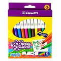 Мартек Фломастеры Luxor Coloring Marker, 12 цв., смываемые, картон, европодвес