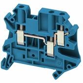 Клеммные соединения Клеммник винтовой проходной, сечением провода 4мм2, 3 точки подключения, син, Schneider Electric