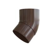 Колено (отвод) водосточной трубы Альта-Профиль Элит 45 град., D-95, Коричневый