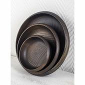 Foxwoodrus Тарелки из темного ясеня, набор 3 предмета