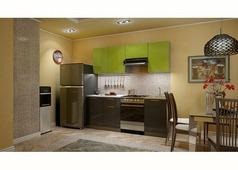 Кухня Олива зелёный, чёрный 2,1 м.