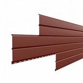 Сайдинг наружный металлический МеталлПрофиль Lбрус Красная окись 4м (ПЭ, 0,45мм, глянец.)