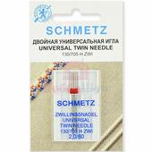 Игла двойная универсальная SCHMETZ TWIN №80/2 (1 шт.)
