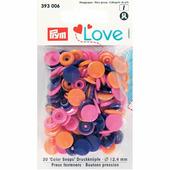 Кнопки Color Snaps пластик 30 шт разноцветные Prym Love 393006