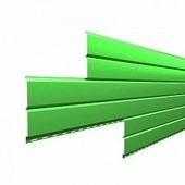 Сайдинг наружный металлический МеталлПрофиль Lбрус Желто-зеленый 4м (NormanMP, 0,5мм)