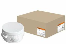 TDM коробка распред. D65х40 мм ОУ с крышкой IP54 4 входа SQ1401-0501