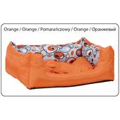 Лежак с подушкой AMI Play Crazy оранжевый, L, 55x40x19см