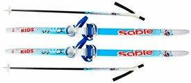 Комплект лыжный STC для детей, с комби креплением и палками