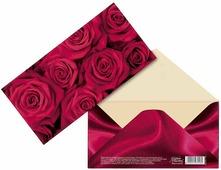 """Конверт для денег Дарите Счастье """"Малиновые розы"""", 16,5 х 8 см"""