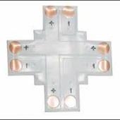 Коннектор для светодиодной ленты Ecola LED connector гибкая соед. плата X для зажимного разъема 2-х конт. 10 mm уп. 5 шт. SC21FXESB