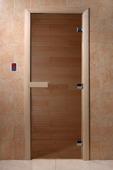 Дверь для сауны Doorwood Теплый день 700x1900 стекло бронза, коробка осина