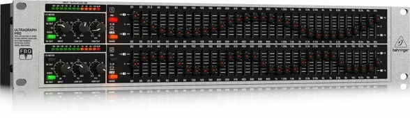 Behringer FBQ3102HD 2-канальный 31-полосный графический эквалайзер с системой детектирования обратной связи, регулир. фильтры LoCut и HiCut