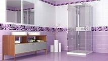 Панель ПВХ Кронапласт Unique Капли росы фиолетовый