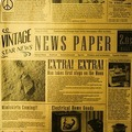 Бумага для подачи «Газета» 1000 шт 30.5х30.5 см бежевая Fab up 4146654