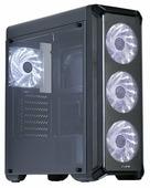 Корпус Zalman i3 Black (Miditower, ATX, USB3, 4xFan, White LED, Window)