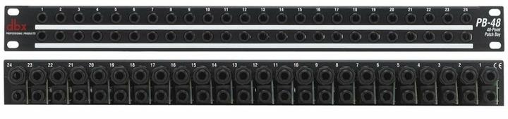 "dbx PB-48 рэковая коммутационная панель на разъемах 1/4"" TRS"