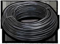 Трубка односл. черная 3,0мм, стенка 1мм общего назначения черная, 50м в бухте