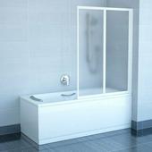 Шторка для ванны Ravak VS2 105 сатин+транспарент
