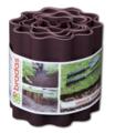 Газонная лента волнистая коричневая, высота 10см, длина 9м