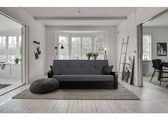Диван-кровать Лион-7 (черный, серый)