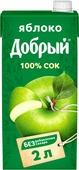 Сок Добрый Яблочный, 2 л