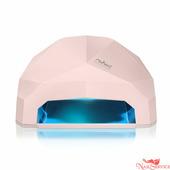 RuNail LED/UV-лампа, 24 Вт, светло-розовая. Runail.
